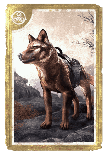 Gorne Striped Wolf card