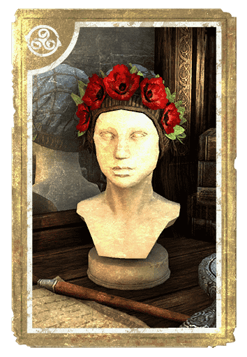 Crimson Garden Flower Hat card