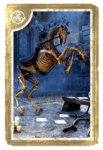 Skeletal Horse card