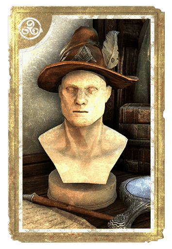 Plumed Wide-Brim Acorn-Warder card