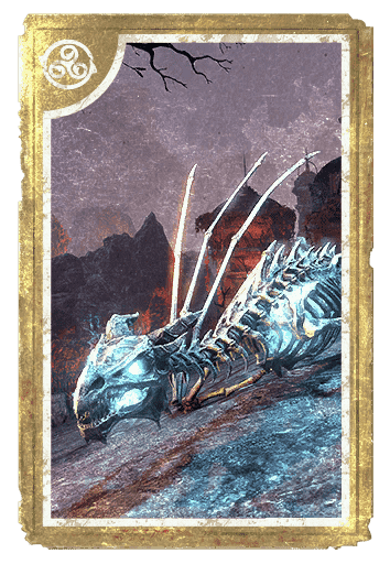 Unholy Glow Bone Dragon card