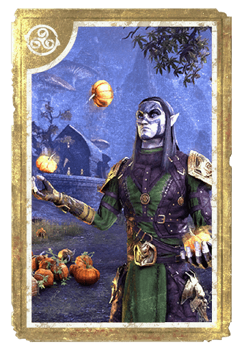 Jugglin' Pumpkins card