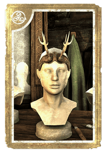 Great Stag Brow Antlers card