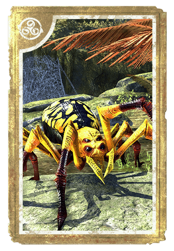 Goldenback Spider Lackey card
