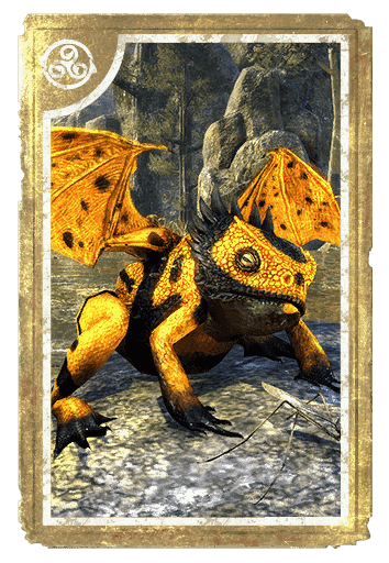 Butterscotch Dragon Frog card