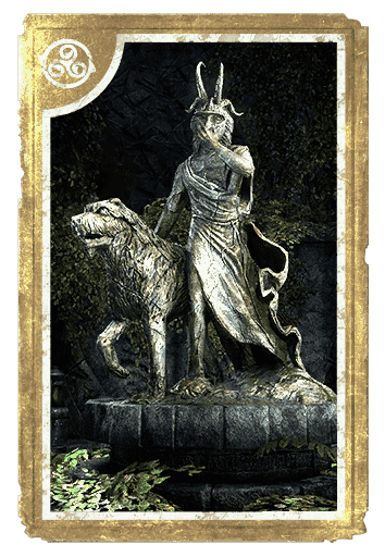 Statue of Masked Clavicus Vile with Barbas card