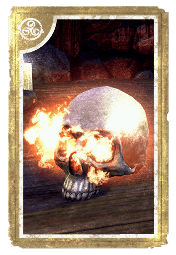 Decorative Hollowjack Flame-Skull card