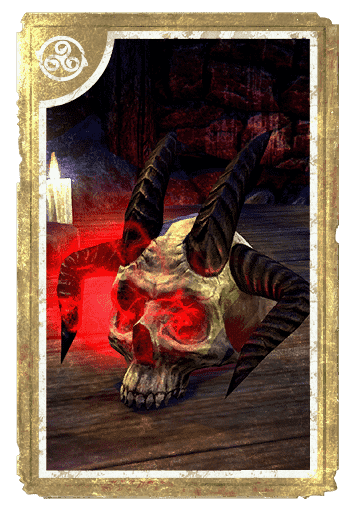 Decorative Hollowjack Daedra-Skull card